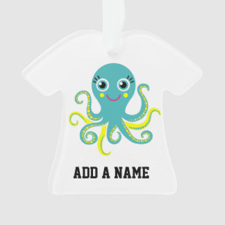 Blue and Yellow Octopus