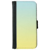 """Blue And Yellow Ombre"" iPhone 6/6s Wallet Case"