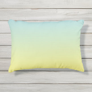 Blue And Yellow Ombre Outdoor Pillow