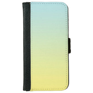"""Blue And Yellow Ombre"" iPhone 6 Wallet Case"