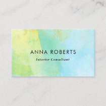 Blue and yellow paint business card
