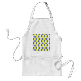 Blue and Yellow Panel Fence Adult Apron