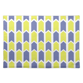 Blue and Yellow Panel Fence Placemat