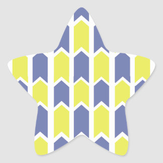Blue and Yellow Panel Fence Star Sticker