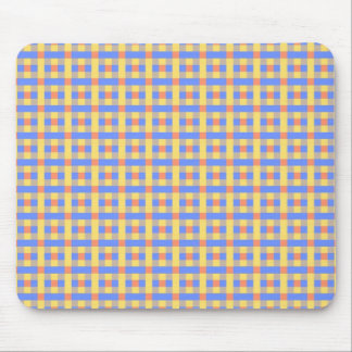Blue and Yellow Plaid Mouse Pads