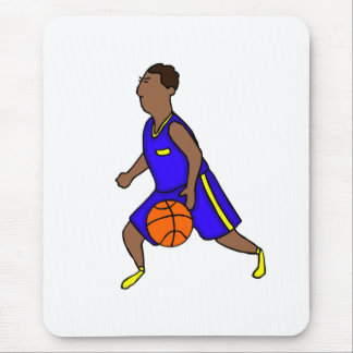 Blue and yellow player mouse pad
