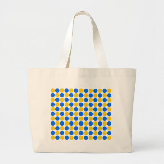 Blue and Yellow Polka Dotted Bag