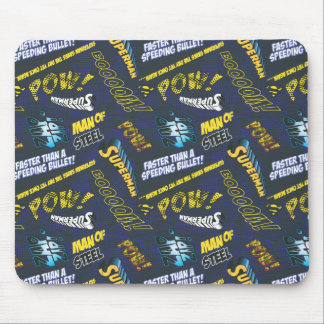Blue and Yellow Pow! Mouse Pad