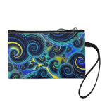 Blue and Yellow Retro Pattern Coin Wallet