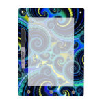 Blue and Yellow Retro Pattern Dry Erase Boards