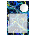 Blue and Yellow Retro Pattern Dry Erase Board With Mirror
