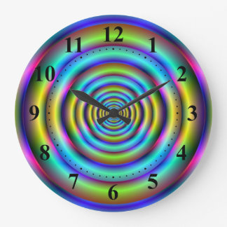 Blue and Yellow Rings Wall Clock