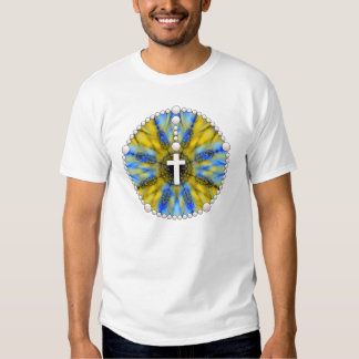 Blue and Yellow Rosary Dream Catcher Tshirts