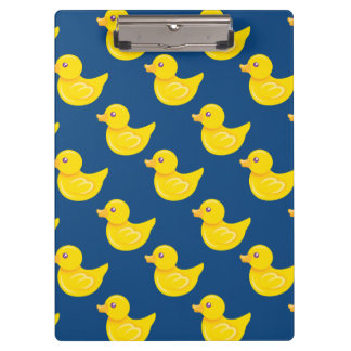 Blue and Yellow Rubber Duck, Ducky Clipboards