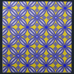 "Blue And Yellow Spanish Tile Pattern Napkins<br><div class=""desc"">Decorate your home with this floral,  yellow and blue - Spanish tile pattern napkins.  For matching Spanish tile pattern home decor visit the rest of this shop.</div>"
