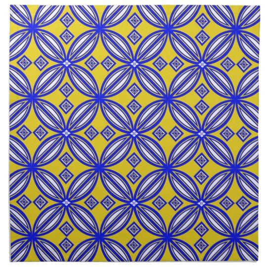 Blue And Yellow Spanish Tile Pattern Napkins Zazzle Impressive Pattern In Spanish