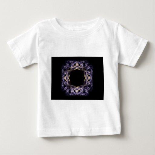 Blue and Yellow Sparkling Fractal Art Frame T-shirt