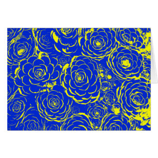 Blue and Yellow Succulent Note Cards