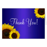Blue and Yellow Sunflowers Thank You Card