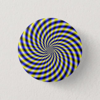 Blue and Yellow Swirl Button