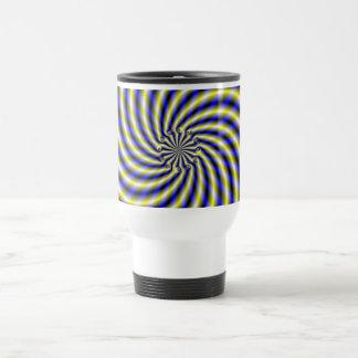 Blue and Yellow Swirl Travel Mug
