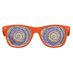 Blue And Yellow Swirls Kids Party Shades at Zazzle