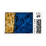 Blue and Yellow Tangle Postage Stamp