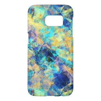 Blue and Yellow Tissue Abstract Montage Samsung Galaxy S7 Case