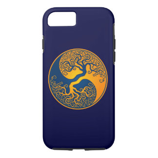 Blue and Yellow Tree of Life Yin Yang iPhone 8/7 Case