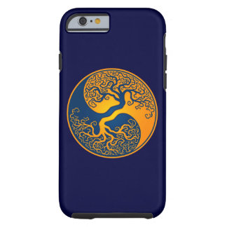 Blue and Yellow Tree of Life Yin Yang Tough iPhone 6 Case