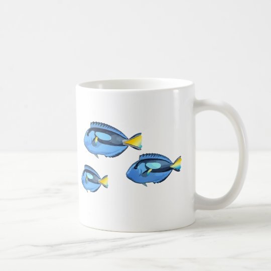 Blue and Yellow Tropical Fish Coffee Mug