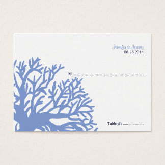 Blue and Yellow Tropical Fish Seating Card