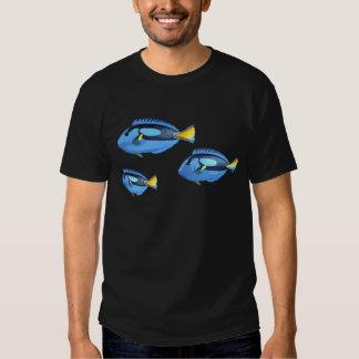 Blue and Yellow Tropical Fish Shirt
