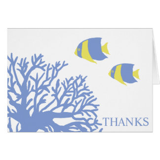 Blue and Yellow Tropical Fish Thank You Card