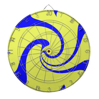 Blue and Yellow Twist Dartboards