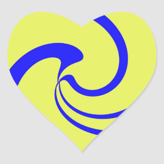 Blue and Yellow Twist Heart Sticker