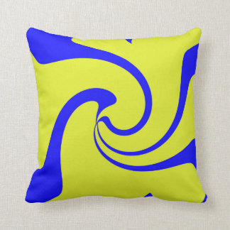 Blue and Yellow Twist Throw Pillow