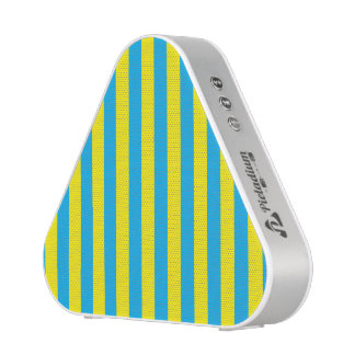 Blue and Yellow Vertical Stripes Bluetooth Speaker
