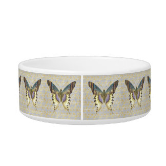 Blue and Yellow Vintage Style Butterfly Bowl