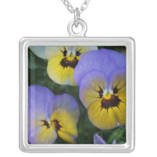 Blue and Yellow Violas Custom Necklace