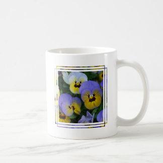Blue and Yellow Violas Coffee Mugs