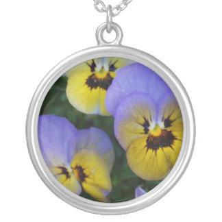 Blue and Yellow Violas Pendant