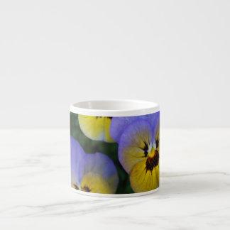 Blue and Yellow Violas Espresso Mug