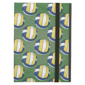 Blue and Yellow Volleyball Patterns Case For iPad Air