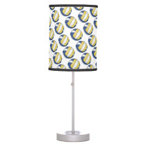 Blue and Yellow Volleyball Patterns Desk Lamp
