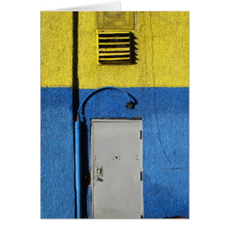 Blue and Yellow Wall 5x7 Card