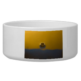 Blue and Yellow Water Drop Dog Bowls