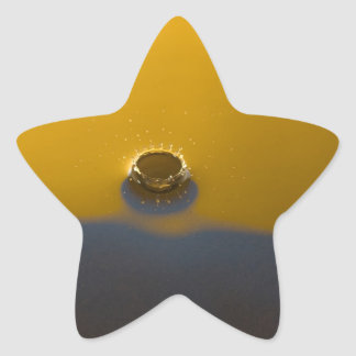 Blue and Yellow Water Drop Star Sticker