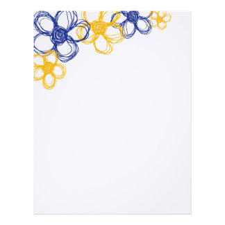 Blue and Yellow Wild Flowers Letterhead