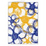 Blue and Yellow Wild Flowers Thank You Greeting Cards